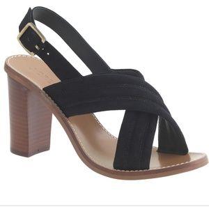 J. Crew Marcie Black suede sandals